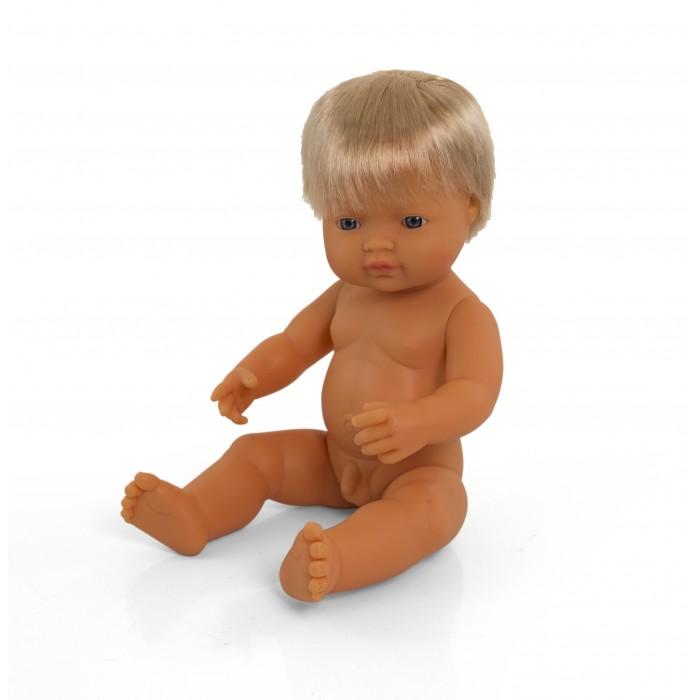 Куклы и одежда для кукол Miniland Кукла Baby Doll european boy Polybag 38 см
