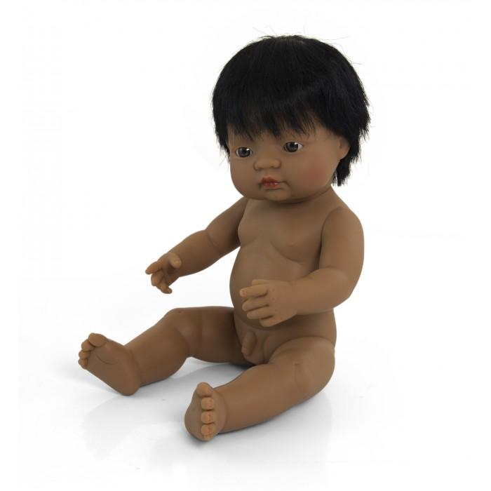 Куклы и одежда для кукол Miniland Кукла Baby Doll latinoamerican boy Polybag 38 см