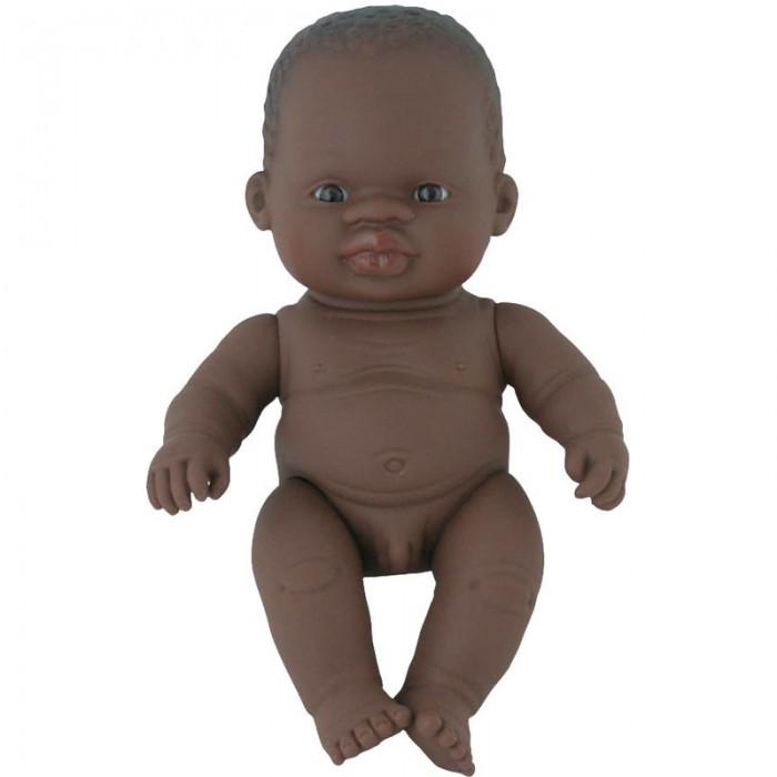 Куклы и одежда для кукол Miniland Кукла Baby Doll african boy Polybag 21 см