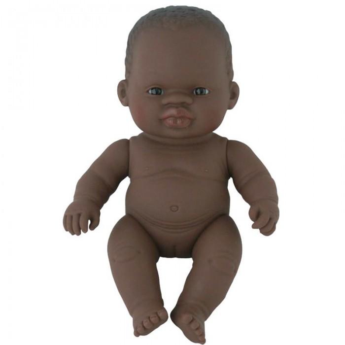 Куклы и одежда для кукол Miniland Кукла Baby Doll african girl Polybag 21 см