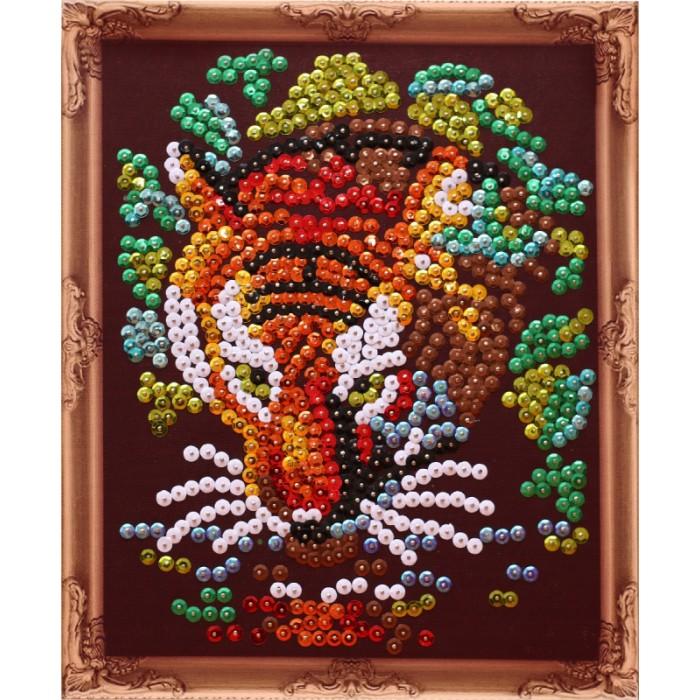 Картины своими руками Color Kit Картина из пайеток Тигр картины своими руками color kit картина из пайеток собачка