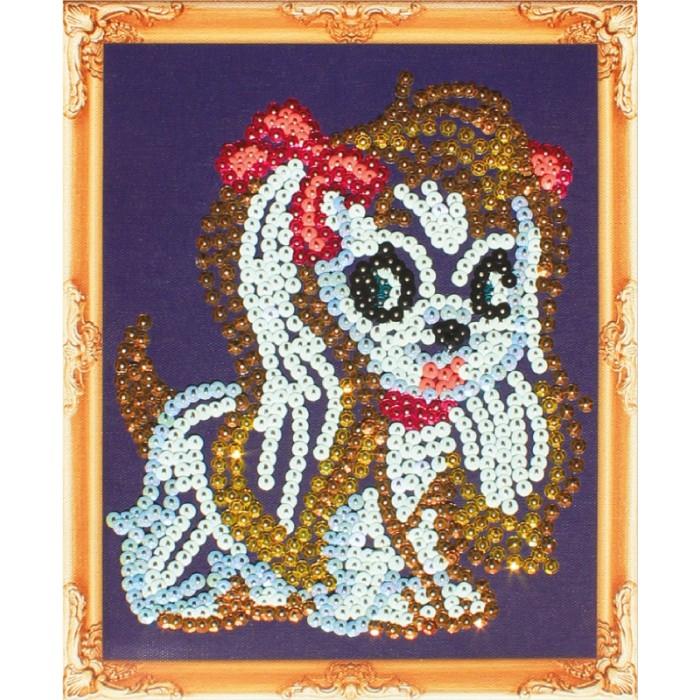 Картины своими руками Color Kit Картина из пайеток Собачка картины своими руками color kit картина из пайеток собачка