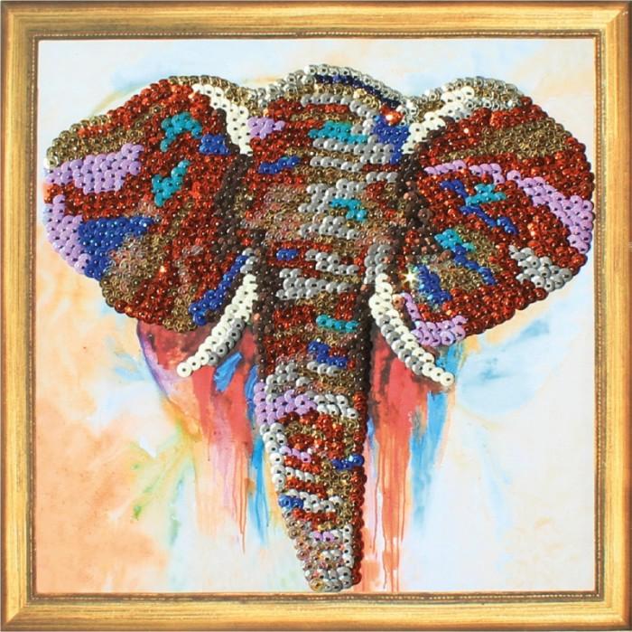 Color Kit Картина из пайеток Слон CMD011