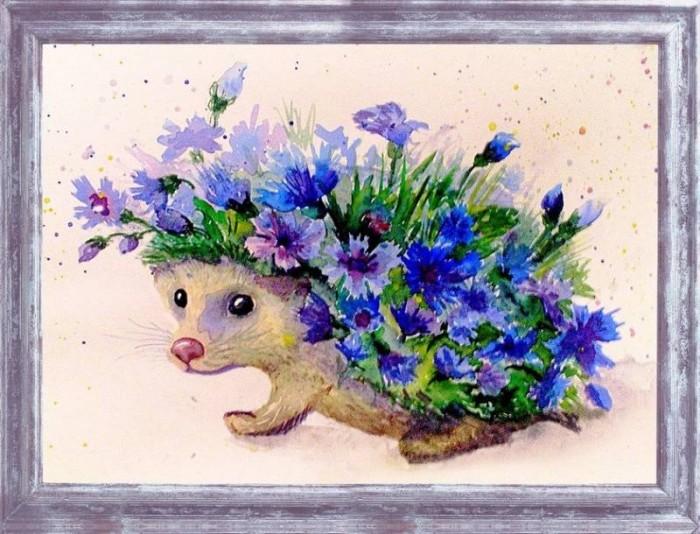 Картины своими руками Color Kit Картина из пайеток Цветочный еж картины своими руками color kit картина из пайеток собачка