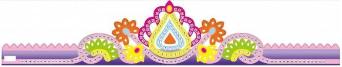 Аппликации для детей Color Kit Мозаика-стикеры Корона фиолетовая аппликации для детей color kit мозаика стикеры познаем мир дельфины и бабочки