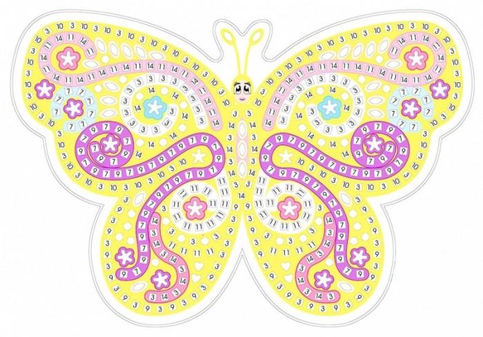 Аппликации для детей Color Kit Мозаика-стикеры Желтая бабочка аппликации для детей color kit мозаика стикеры познаем мир дельфины и бабочки
