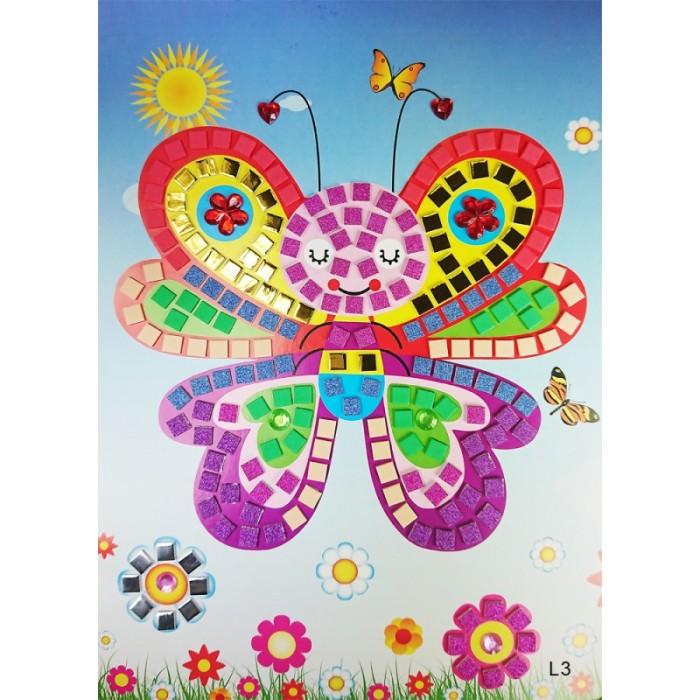Аппликации для детей Color Kit Мозаика-стикеры Бабочка-красавица аппликации для детей color kit мозаика стикеры познаем мир дельфины и бабочки