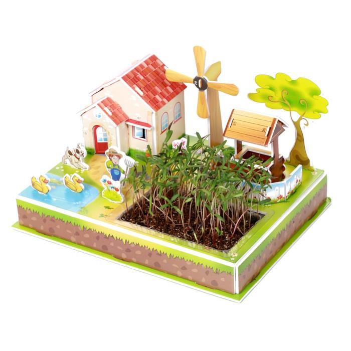 Zilipoo Живой 3D Пазл Ферма и ветряная мельница (23 детали)