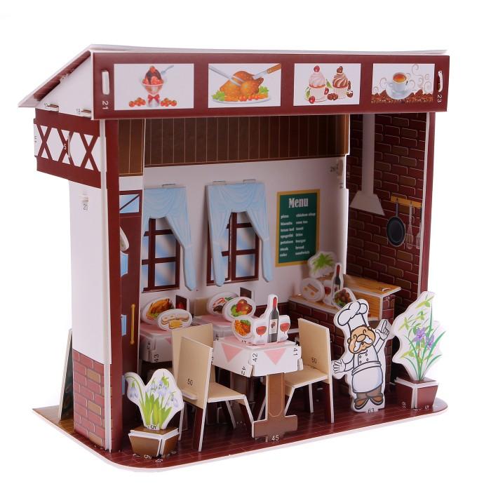 Пазлы Zilipoo 3D Пазл Западный ресторан (48 деталей) robotime 3d пазл ресторан