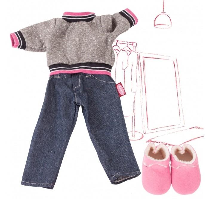 Gotz Набор одежды брюки деним, свитер, ботинки для кукол 45-50 см фото