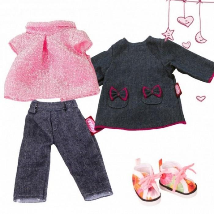 Купить Куклы и одежда для кукол, Gotz Набор одежды из денима Маст Хэв для кукол 27 см