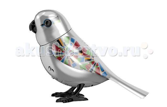 Интерактивные игрушки Digibirds Серебряная птичка с кольцом футболка wearcraft premium slim fit printio кит и планеты
