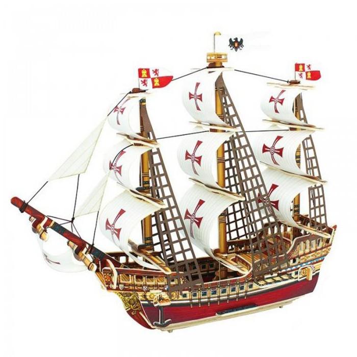Пазлы Funny 3D Пазл Корабль Санта-Мария (102 детали) минус корабль