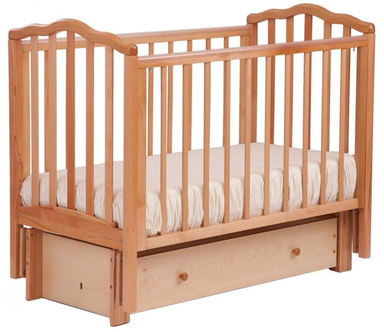 Купить Детская кроватка Кубаньлесстрой АБ 19.3 Жасмин маятник продольный с ящиком в интернет магазине. Цены, фото, описания, характеристики, отзывы, обзоры
