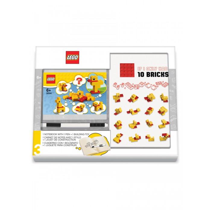 Фото - Канцелярия Lego Classic Книга для записей с ручкой и минифигурой Duck Build lego записная книжка lego classic duck build с ручкой и мини фигурой 192 листа