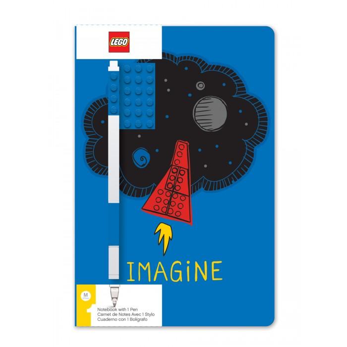 Канцелярия Lego Classic Книга для записей Imagine с ручкой