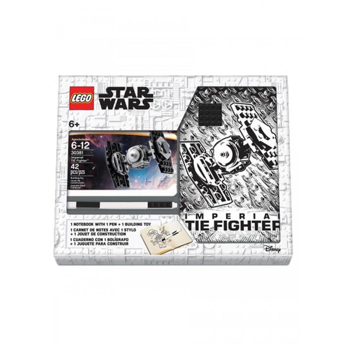 Канцелярия Lego Star Wars Книга для записей с ручкой и минифигурой TIE Fighter