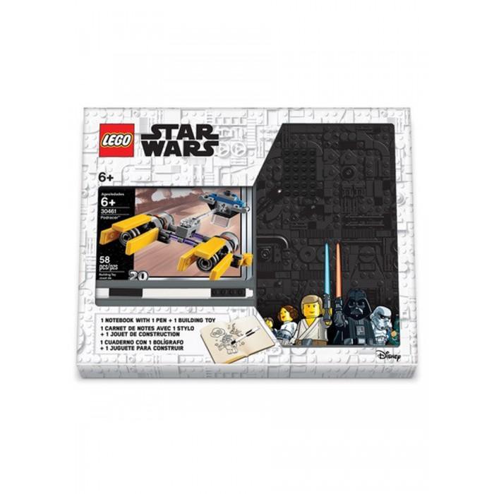 Фото - Канцелярия Lego Star Wars Книга для записей с ручкой и минифигурой Podracer lego записная книжка lego classic duck build с ручкой и мини фигурой 192 листа