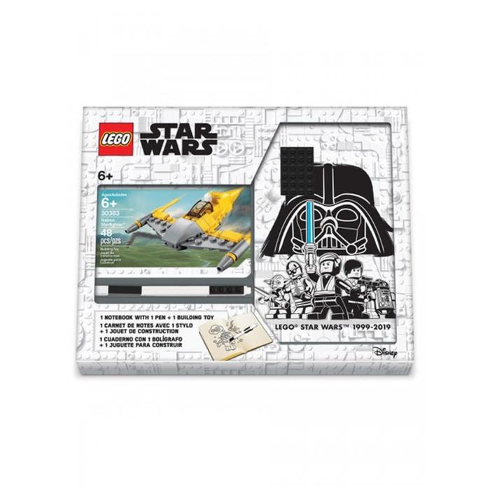 Фото - Канцелярия Lego Star Wars Книга для записей с ручкой и минифигурой Naboo Starfighter lego записная книжка lego classic duck build с ручкой и мини фигурой 192 листа