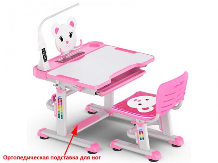 Купить Mealux Комплект парта и стульчик BD-04 XL Teddy с лампой (столешница белая) в интернет магазине. Цены, фото, описания, характеристики, отзывы, обзоры