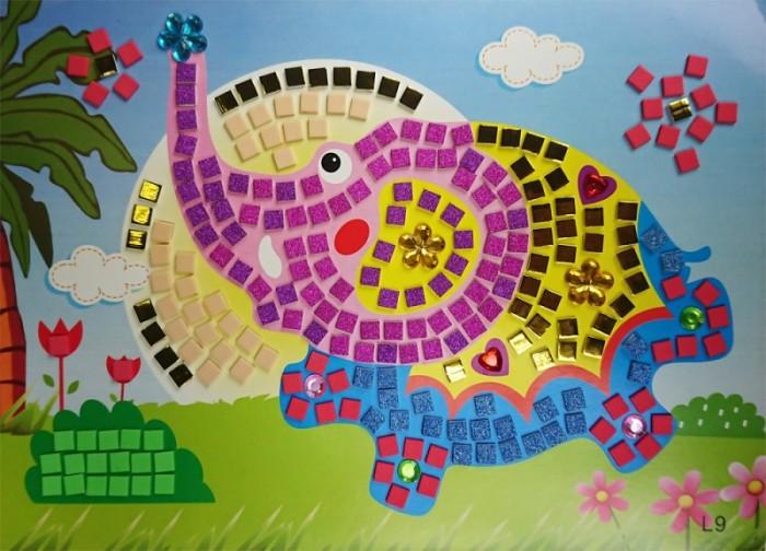Аппликации для детей Color Kit мозайка-стикеры Слоненок аппликации для детей color kit мозаика стикеры познаем мир дельфины и бабочки