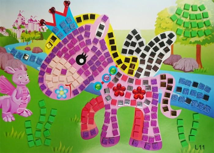 Аппликации для детей Color Kit мозайка-стикеры Сказочный пони аппликации для детей color kit мозаика стикеры познаем мир дельфины и бабочки