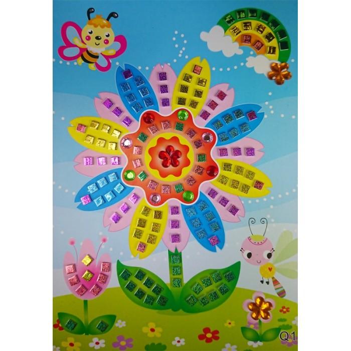 Аппликации для детей Color Kit мозайка-стикеры Цветик семицветик аппликации для детей color kit мозаика стикеры познаем мир дельфины и бабочки