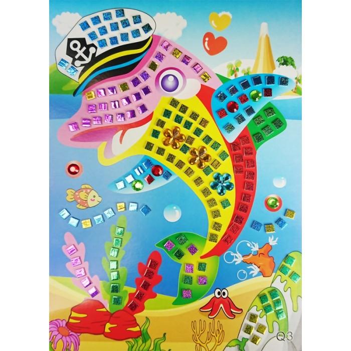 Аппликации для детей Color Kit мозайка-стикеры Дельфин аппликации для детей color kit мозаика стикеры познаем мир дельфины и бабочки