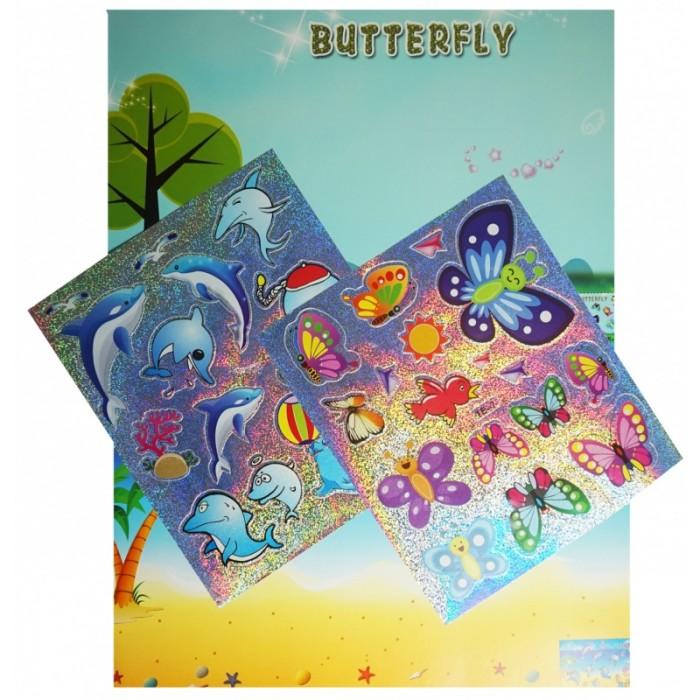 Аппликации для детей Color Kit мозаика-стикеры Познаем мир. Дельфины и бабочки аппликации для детей color kit мозаика стикеры познаем мир дельфины и бабочки