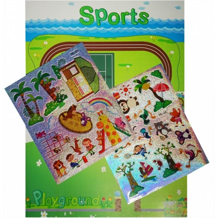 Аппликации для детей Color Kit мозаика-стикеры Познаем мир. Спортивная площадка аппликации для детей color kit мозаика стикеры познаем мир дельфины и бабочки