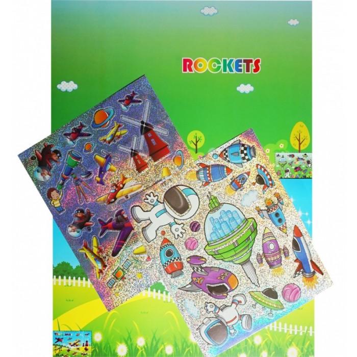 Аппликации для детей Color Kit мозаика-стикеры Познаем мир. Космическое путешествие аппликации для детей color kit мозаика стикеры познаем мир дельфины и бабочки