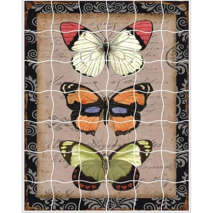 Пазлы Color Kit пазлы-стикеры Бабочки аппликации для детей color kit мозаика стикеры познаем мир дельфины и бабочки