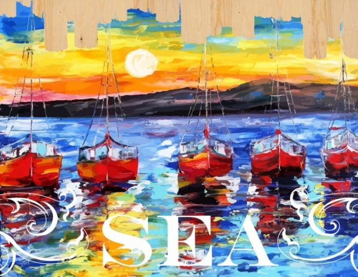 картины по номерам color kit картина по номерам розы для любимой Картины по номерам Color Kit Картина по номерам на дереве Ласковое море