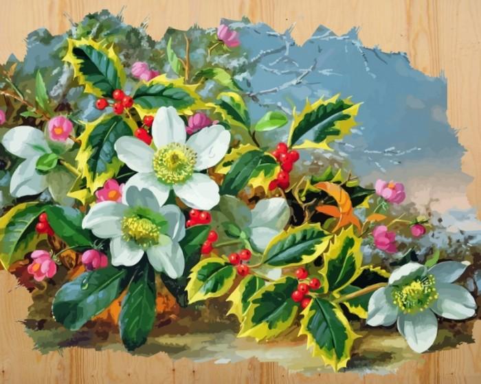 картины по номерам color kit картина по номерам розы для любимой Картины по номерам Color Kit Картина по номерам на дереве Морозный букет