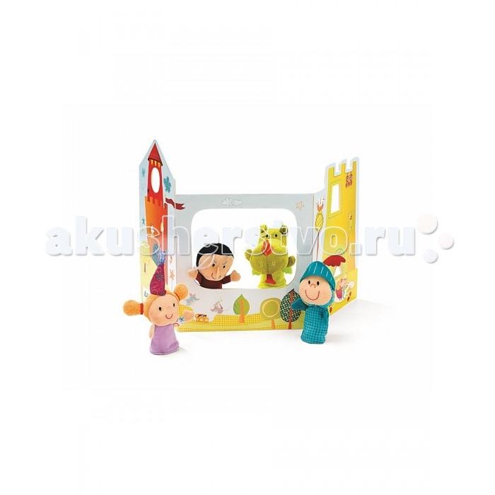 Мягкая игрушка Lilliputiens Пальчиковые игрушки: волшебный замокПальчиковые игрушки: волшебный замокLilliputiens Пальчиковые игрушки: волшебный замок.  Устройтесь поудобней, и пусть шоу начнется! Расскажите своим маленьким зрителям о приключениях принца, принцессы, ведьмы и дракона Уолтера.<br>