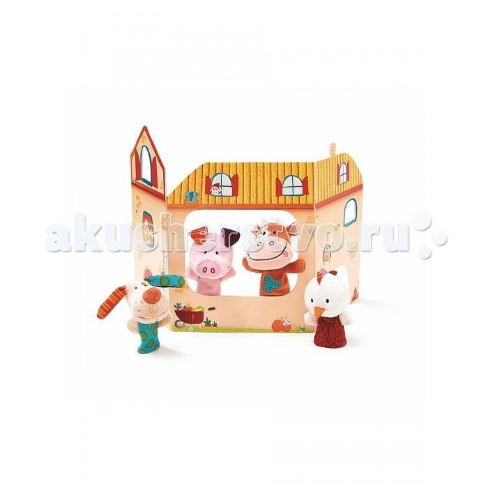 Мягкие игрушки Lilliputiens Пальчиковые игрушки: ферма