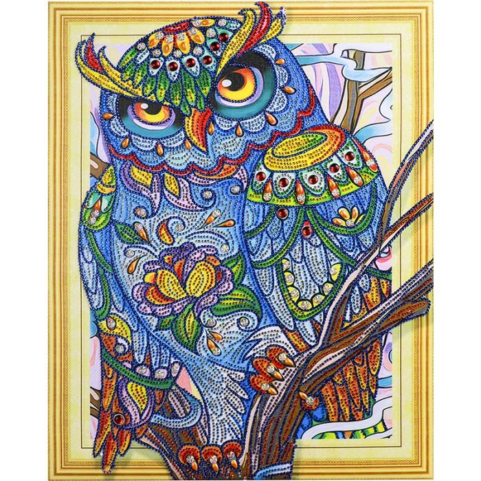 Купить Картины своими руками, Color Kit Алмазная картина с фигурными стразами Мудрая сова