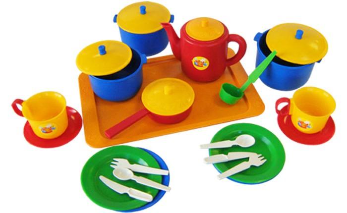 Ролевые игры Пластмастер Набор посуды хозяюшка большой
