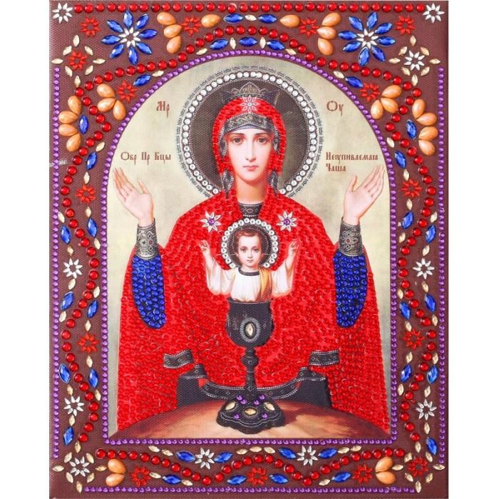 Купить Картины своими руками, Color Kit Картина с фигурными стразами Образ Пресвятой Богородицы Неупиваемая Чаша
