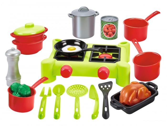 Ecoiffier Chef Набор плита с продуктами (21 предметов)