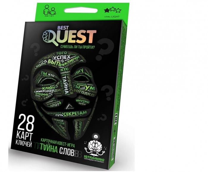 Настольные игры Danko Toys Настольная игра Best Quest Тайна Слов металлоискатель deteknix quest quest pro грунтовый и подводный