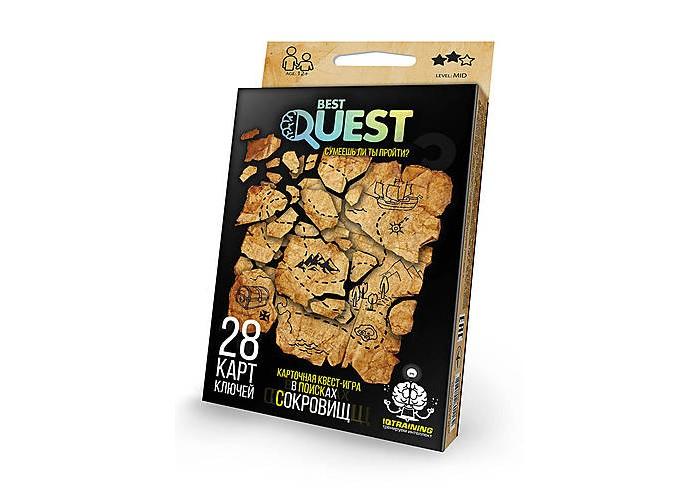 Настольные игры Danko Toys Настольная игра Best Quest В поисках сокровищ серии металлоискатель deteknix quest quest pro грунтовый и подводный