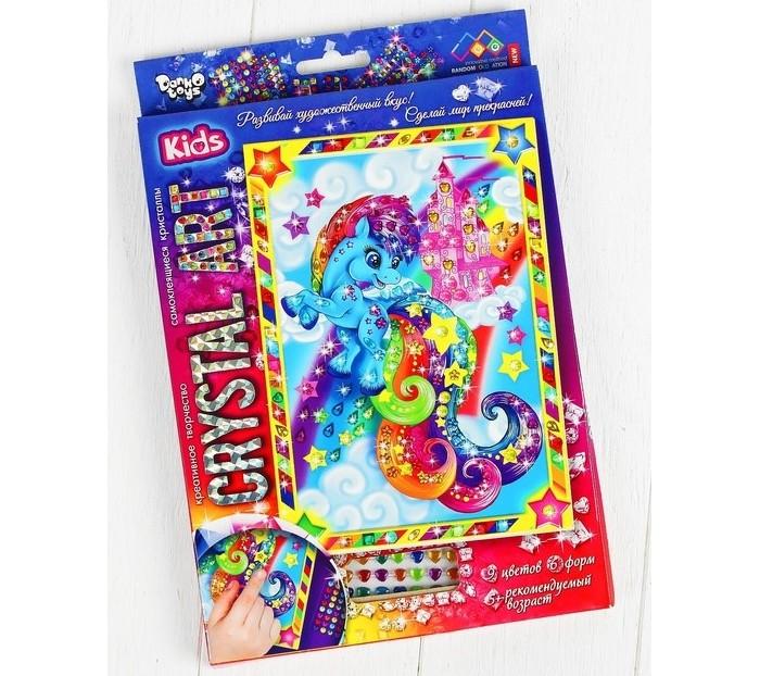 Картины своими руками Danko Toys Мозаика фигурными стразами Crystal Art Радужный Пони