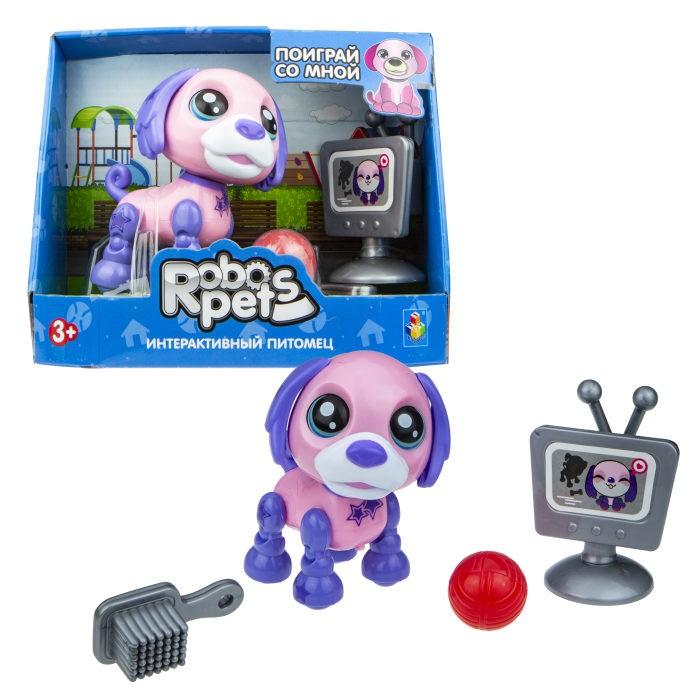 Фото - Интерактивные игрушки 1 Toy Robo Pets Озорной щенок Т16936 игрушка интерактивная 1toy robo pets робо щенок розовый