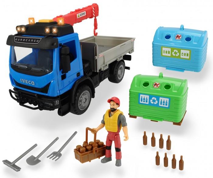 Машины Dickie Playlife Набор перевозчика стеклотары (7 предметов)