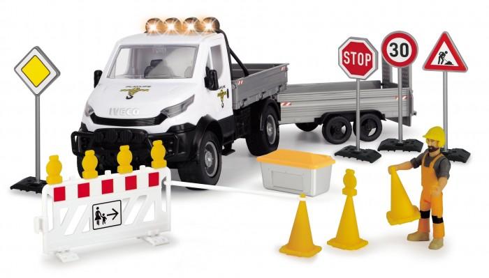 Машины Dickie Playlife Набор Ремонт дороги с дорожными знаками (19 предметов)