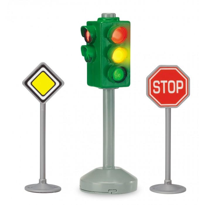 Машины Dickie Набор Светофор и дорожные знаки dickie светофор набор дорожных знаков 24 см 3741001