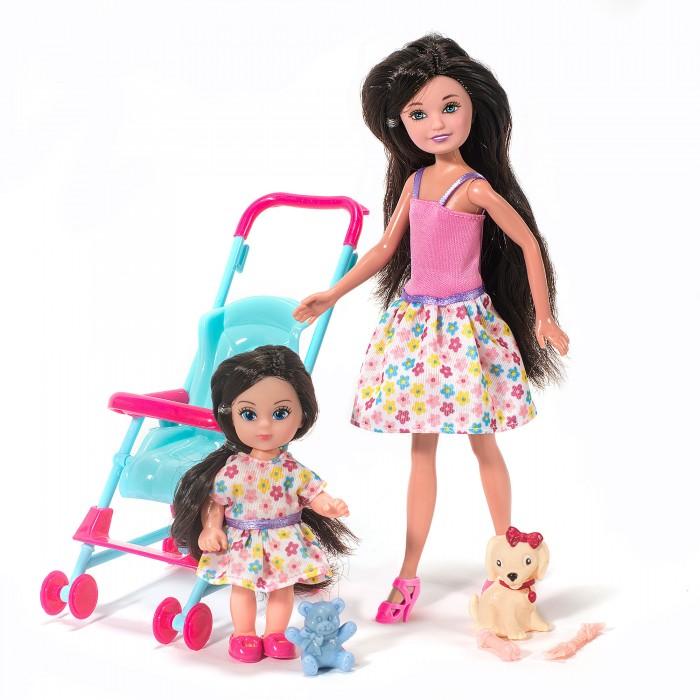 Купить Куклы и одежда для кукол, Funky Toys Кукла Мила 23 см с куклой Вики 12 см в коляске и с собачкой