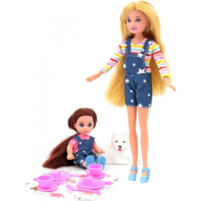Купить Куклы и одежда для кукол, Funky Toys Кукла Мила 23 см с куклой Вики 12 см с собачкой и набором для пикника