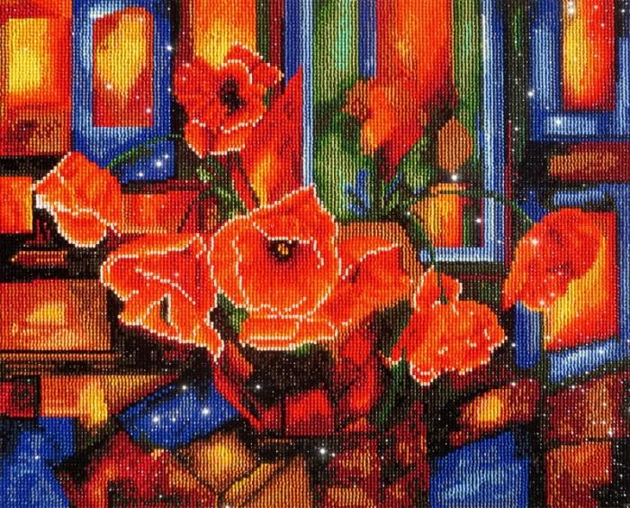 Картины своими руками Color Kit Алмазная картина Витражные маки картины своими руками color kit картина из пайеток собачка